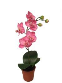 salg af Lyserød orkide, 26 cm. - kunstige blomster