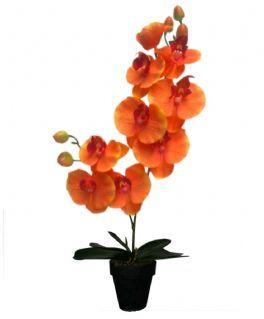 salg af Orkide 2 grenet 42 cm. Orange 206-1146