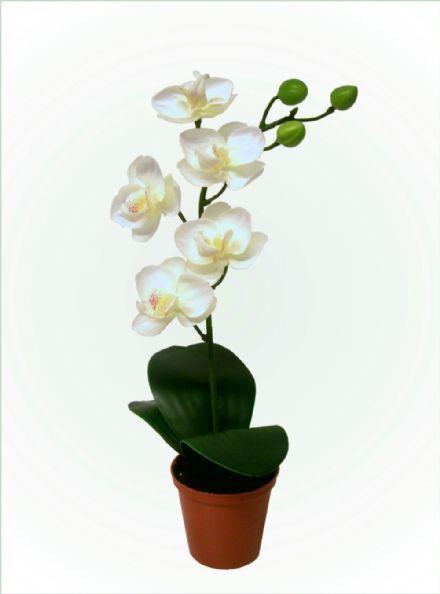 salg af Hvid orkide, 26 cm. - kunstige blomster