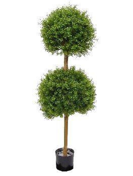 salg af Buksbom 130 cm. med 2 kugler - kunstige træer