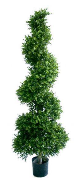 salg af Buksbom spiral 165  cm. - kunstige træer