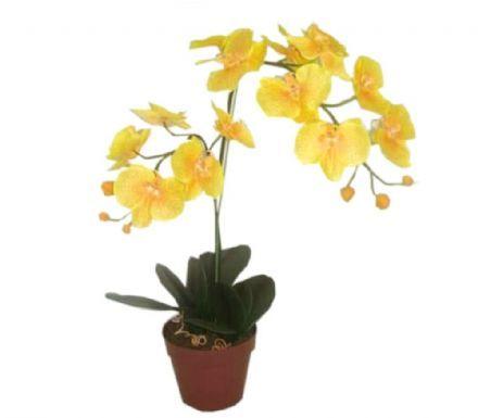salg af Gul orkide, 60 cm. - kunstige blomster