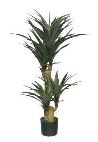 salg af Yucca 120 cm med 4 skud i potte - kunstige træer