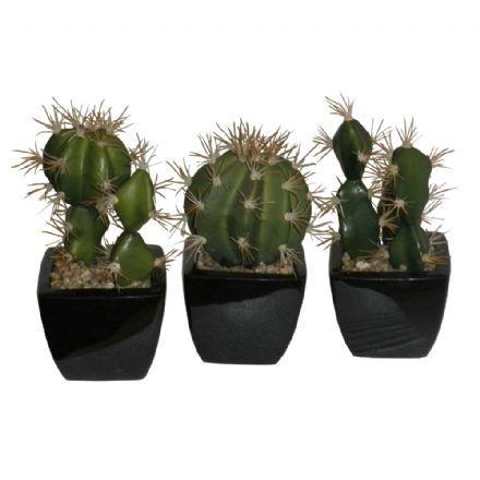salg af Kaktus sæt, 3 ass. - 15 cm. - kunstige planter