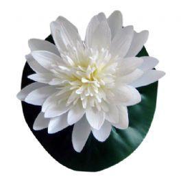 salg af Åkande hvid, 20 cm. - kunstig blomst