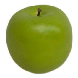 salg af Grøn æble, glat - Ø7 cm. - kunstige frugter