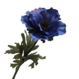 salg af Blå lilla anemone, 35 cm. - kunstige blomster
