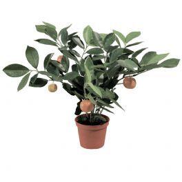 salg af Appelsinbusk 32 cm. - kunstig plante med frugter - kunstig blomst