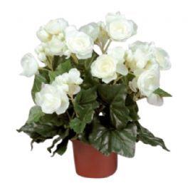 salg af Hvid Begonia, 30 cm. - kunstige blomster