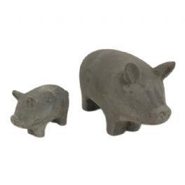 salg af Beton grise, sæt a´2 stk. - L6,5 & H12 cm.