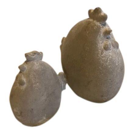 salg af Beton høns, sæt - H6-H10 cm.