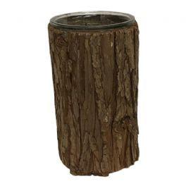 salg af Brun bark skjuler - Ø13*H24 cm.
