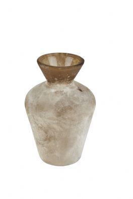 salg af Brun frostet vase, 7*10 cm.