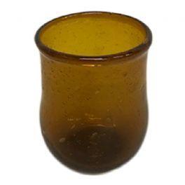 salg af Brun glasvase, 7 cm.