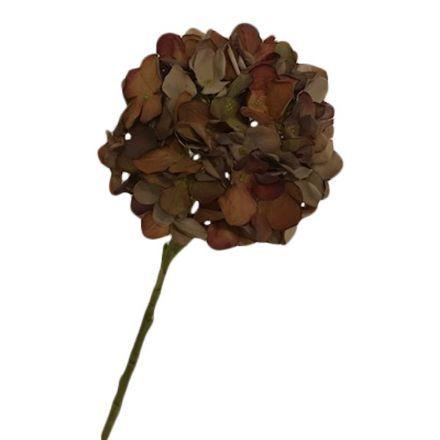 salg af Brun Hortensia, 45 cm. - kunstige blomster