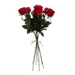 salg af Kunstig røde roser, håndbunden - kunstige buketter