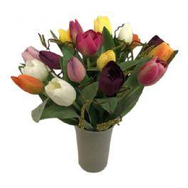 salg af Tulipan buket, 18 stk. mix - kunstig buketter