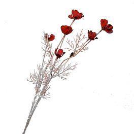 salg af Chokoladeblomst - røde blomster - højde 52 cm. - kunstig blomst