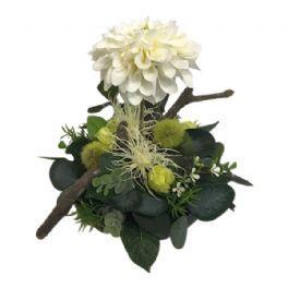 salg af Creme dekoration, H25 cm. - kunstige blomster