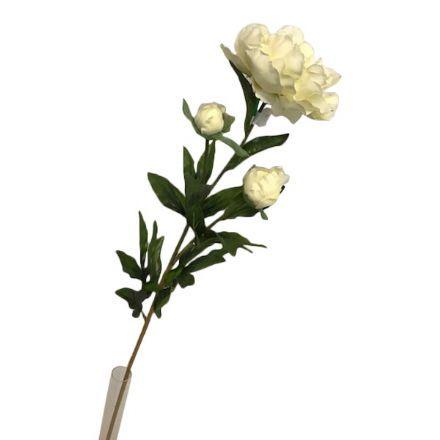 salg af Creme pæon, 75 cm. - kunstige blomster
