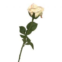 salg af Creme rose m/rosa kant, 55 cm. - kunstige blomster