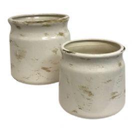 salg af Creme skjuler m/struktur - Ø15,5*H15 cm.