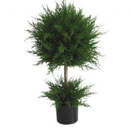 salg af Cypres m/2 kugler - 57 cm. - kunstige planter