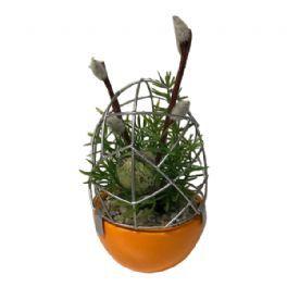 salg af Orange påskeæg, 16 cm. - kunstige blomster