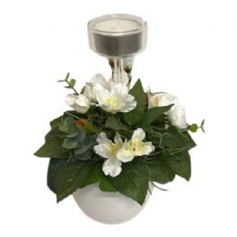 salg af Dekoration hvid, 20 cm. - kunstige blomster