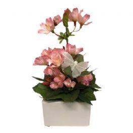 salg af Dekoration lyserød, 22 cm. - kunstige blomster