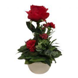 salg af Dekoration rød, 25 cm. - kunstige blomster