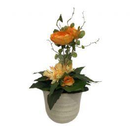 salg af Dekoration orange, 30 cm. - kunstige blomster