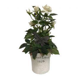 salg af Dekoration creme, 28 cm. - kunstige blomster