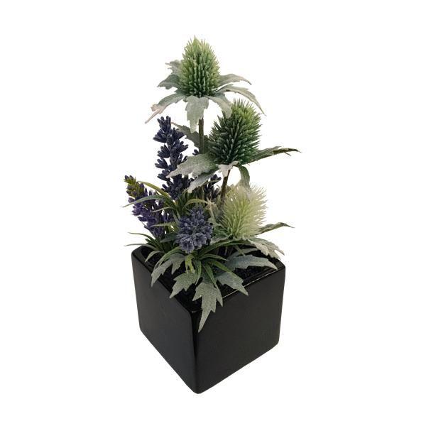 Dekoration med lavendel og mandstro h jde 25 cm - Dekoration lavendel ...