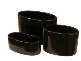 salg af Dekorationsskål - sort - oval