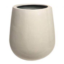 salg af Hvid glas fiber krukke, Ø44-H46 cm.