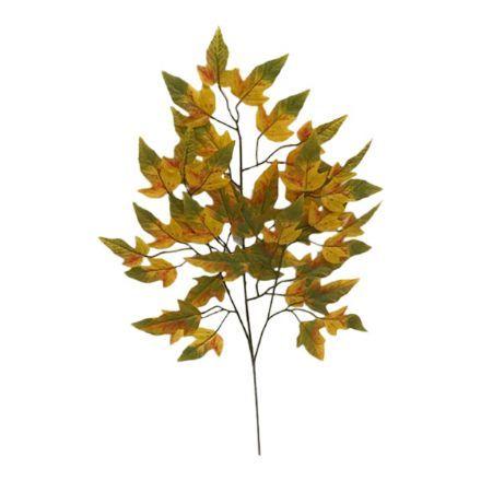 salg af Efterårsgren, gul/grøn - 60 cm. - kunstige grene