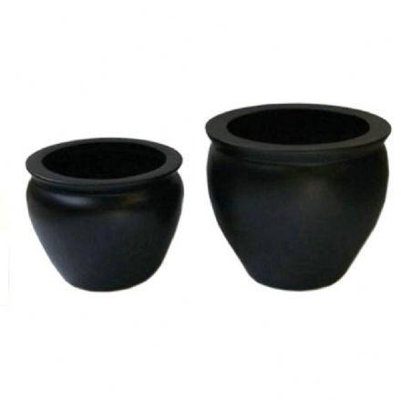 salg af Sort glasfiber krukke, Ø60-H50 cm.