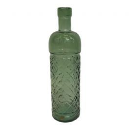 salg af Flaske - mørk grøn - 23 cm . - recycled glass