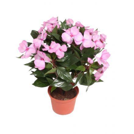 salg af Flittig Lise, 30 cm. - lys rød - kunstige blomster