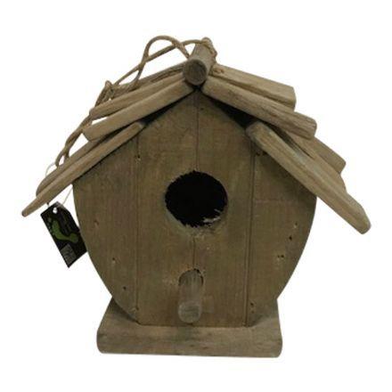 salg af Fuglehus - træ - 16*19 cm.