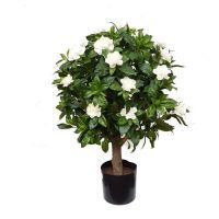 salg af Gardenia ball, hvid - H60 cm. - kunstige træer