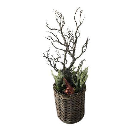 salg af Gaveide, Kurv m/lyng - 85 cm. - kunstige planter
