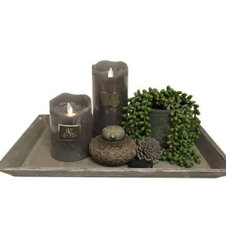 salg af Gaveide, fad m/plante - H17 cm. - kunstige planter