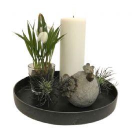 salg af Gaveide, fad m/vintergækker - H20 cm. - kunstige blomster