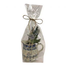 salg af Gaveide, Ewa&Co kande m/pynt - 22 cm. kunstige blomster