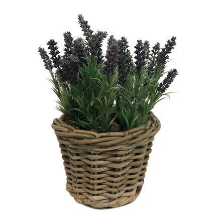 salg af Gaveide, kurv m/lavendel - H40 cm. - kunstige blomster