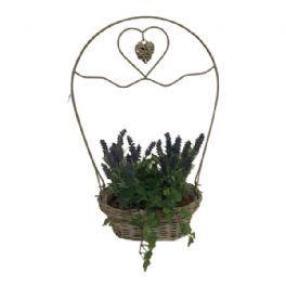 salg af Gaveide, kurv m/lavendel - H60 cm. - kunstige blomster