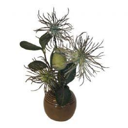 salg af Gaveide, vase m/blomster - H15 cm. - kunstige blomster