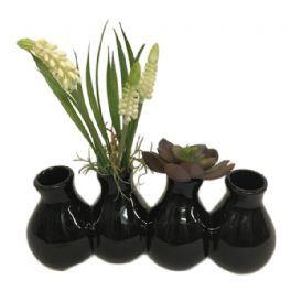 salg af Gaveide, vase m/perlehyasint - H20 cm. - kunstige blomster
